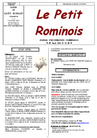 N° 42 – Le petit Rominois Août 2016